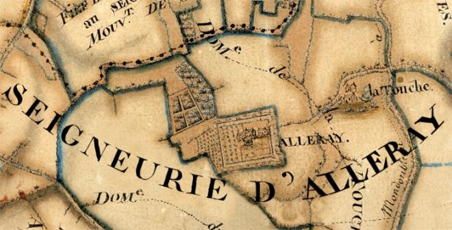 Carte du domaine d'Alleray